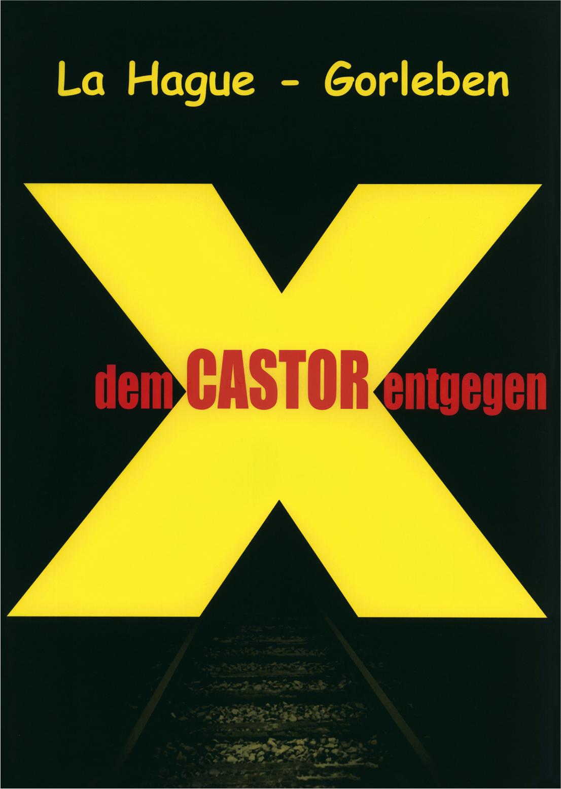 ラ・アーグ - ゴアレーベン Xエックス 放射性物質容器カストーアに反対