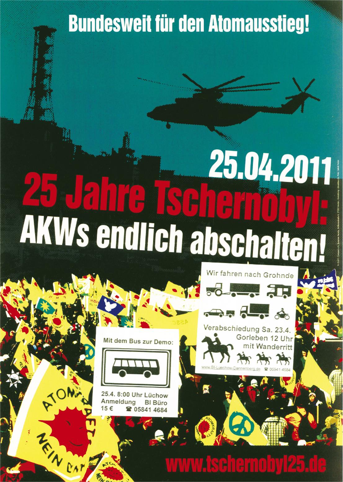 2011年4月25日 チェルノブイリ25周年を記念して 原発のシャット・ダウンは待ったなし!