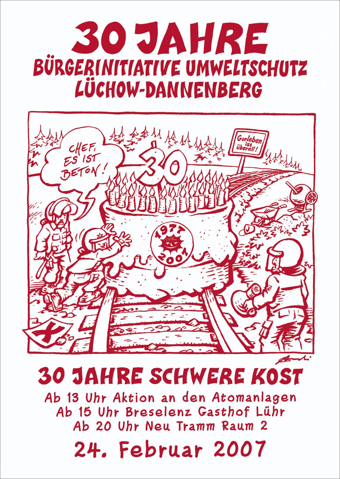 30周年 環境保護市民運動 リュヒョウ=ダネンベルク